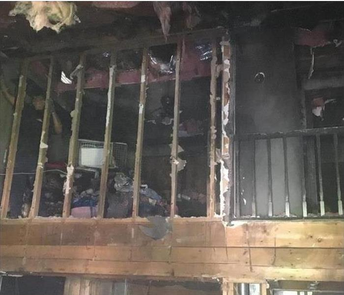 home with fire damage